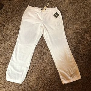 Eddie Bauer NWT Cotton Linen Drawstring Pants